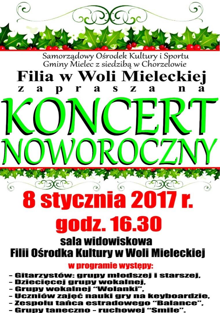 Koncert Noworoczny W Gminie Mielec Plakat